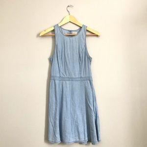 Light blue denim dress